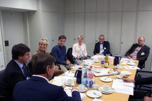 Dr. Marcus Optendrenk im Gespräch mit NRWL-Präsidium